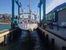 Albufeira - wyciąganie jachtu