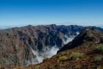 Widok z Roque de los Muchachos; La Palma.